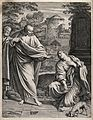 The Canaanite (or Syrophoenician) woman asks Christ to cure Wellcome V0034860.jpg