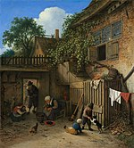 The Cottage Dooryard-1673-Adriaen van Ostade.jpg