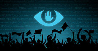 Reactions to global surveillance disclosures - The banner of The Day We Fight Back, February 11, 2014