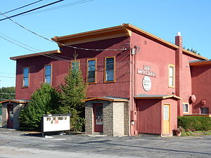 Dresden, Yates County, New York - The Dresden Hotel at the entrance to the village.