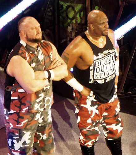 The Dudley Boyz faced La Resistance for the World Tag Team Championship The Dudley Boyz 2016.jpg