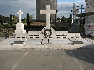 Kevin Barry - On 14 October 2001 the remains of Kevin Barry and nine other volunteers from the War of Independence were given a state funeral and moved from Mountjoy Prison to be re-interred at Glasnevin Cemetery in Dublin. Barry's grave is the first on the left.