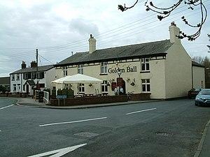 Longton, Lancashire - Image: The Golden Ball geograph.org.uk 153611