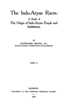 The Indo-Aryan Races, a study of the origin of Indo-Aryan people and institutions.djvu