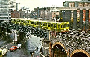 Transport in Dublin - The Loop Line in 1986 with the DART.