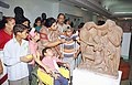 The Minister of State for Tourism Smt. Renuka Chaudhury going round the National Museum with children from Orphanage on the occasion of Sadbhavana Divas in New Delhi on August 20, 2004.jpg