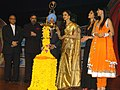 The Noted Film Actress Rekha lighting the lamp to inaugurate the 39th International Film Festival (IFFI-2008) at Kala Academy, in Panaji, Goa on November 22, 2008.jpg