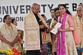 The President, Shri Ram Nath Kovind presenting the degree certificate to a student at the 66th Convocation of Maharaja Sayajirao University of Baroda, in Gujarat.jpg