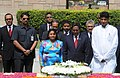 The President of Maldives, Dr. Mohamed Waheed laid wreath at the Samadhi of Mahatma Gandhi, at Rajghat, in Delhi on May 13, 2012.jpg