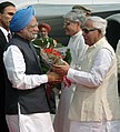The Prime Minister, Dr. Manmohan Singh being received by the Chief Minister of West Bengal, Shri Buddhadeb Bhattacharya, in Kolkata, West Bengal on December 06, 2008.jpg