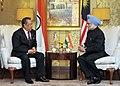 The Prime Minister, Dr. Manmohan Singh with the Deputy Prime Minister of Malaysia, Tan Sri Dato' Haji Muhyiddin Bin Mohd.Yassin, in Kuala Lumpur Malaysia on October 28, 2010.jpg
