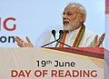 The Prime Minister, Shri Narendra Modi addressing at the launch of the PN Panicker Reading Day - Reading Month Celebration, in Kerala on June 17, 2017.jpg