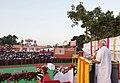 The Prime Minister, Shri Narendra Modi addressing the gathering at the Dussehra celebrations at Madhav Das Park, Red Fort, on the auspicious occasion of Vijay Dashmi, in Delhi on September 30, 2017 (1).jpg