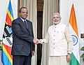The Prime Minister, Shri Narendra Modi meeting the King Mswati III of Swaziland, during the 3rd India Africa Forum Summit, in New Delhi on October 28, 2015.jpg