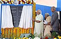The Prime Minister, Shri Narendra Modi unveiling the plaque to inaugurate the Patient Care Facilities at Cancer Institute (WIA), Adyar, Chennai, in Tamil Nadu.jpg