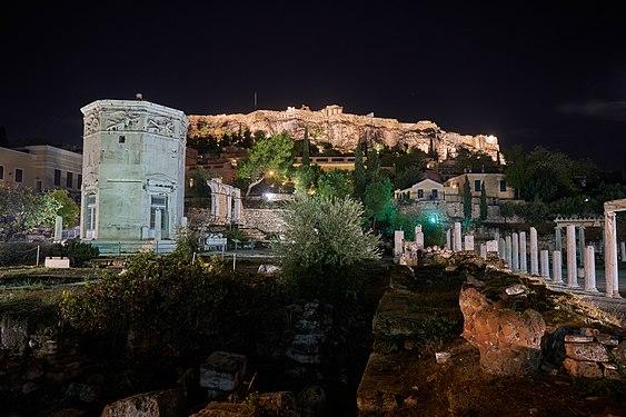 The Roman Agora and the Acropolis on November 4, 2019.jpg