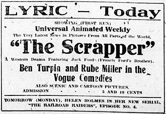 The Scrapper - Newspaper advertisement