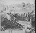 The Siege of Yorktown, Virginia. Immense batteries of enormous guns and mortars were planted all along the line by the F - NARA - 559268.tif