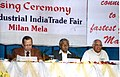 The Speaker, Lok Sabha, Shri Somnath Chatterjee, the Commerce & Industry Minister of West Bengal, Shri Nirupam Sen and other dignitaries at the Industrial India Trade Fair's concluding ceremony, in Kolkata.jpg