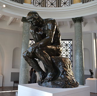 Iris & B. Gerald Cantor Center for Visual Arts - The Thinker by Rodin on display at the center