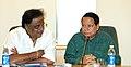 The Union Minister for Information & Broadcasting and Parliamentary Affairs, Shri Priyaranjan Dasmunsi with the Minister of State for Information & Broadcasting Shri M. H. Ambareesh in New Delhi on October 26, 2006.jpg