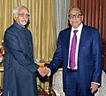 The Vice President, Shri Mohd. Hamid Ansari meeting the President of the People's Republic of Bangladesh, Mr. Abdul Hamid, in New Delhi on December 19, 2014.jpg