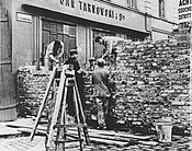 The Wall of ghetto in Warsaw - Building on Nazi-German order August 1940