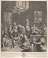 The birth of the Virgin; woman seated with an infant in her lap, numerous women surrounding her, angels above, after Reni MET DP841186.jpg