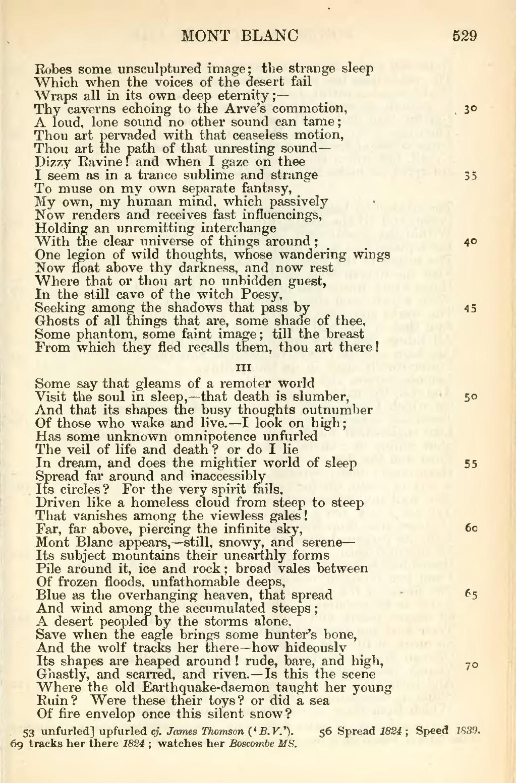 mont blanc poem