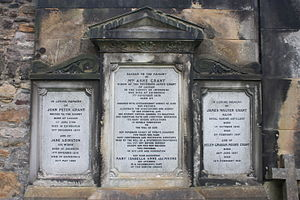 Anne Grant - The grave of Mrs Anne Grant, St Cuthbert's churchyard, Edinburgh