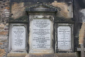 Anne Grant - The grave of Mrs Anne Grant, St Cuthbert's churchyard, Edinburgh