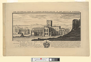 The south east view of St. David's church & palace: in the county of Pembroke