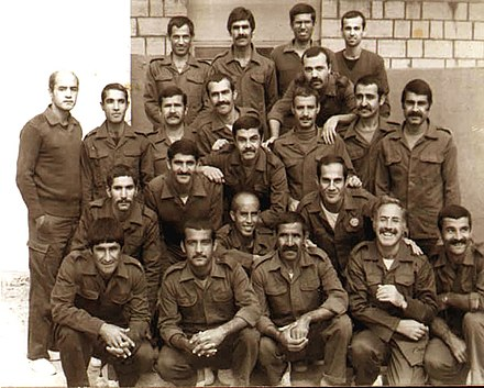 Iranian POW in 1983 near Tikrit, Iraq These photograph was taken in 1984 by the Iraqis at Salahedin camp, near Takrit, Iraq.jpg