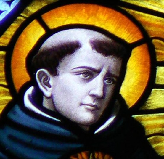 Thomas Aquinas in Stained Glass crop