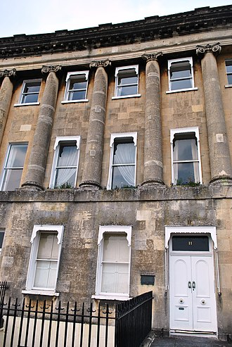 Royal Crescent - Number 11, Royal Crescent, Bath, was the home to the family of Thomas Linley the elder, a singing-master and conductor of concerts from 1771
