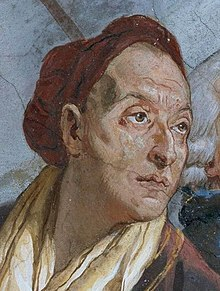 Tiepolo, Giovanni Battista - Fresken Treppenhaus des Würzburger Residenzschlosses, Szenen zur Apotheose des Fürstbischofs, Detail Giovanni Battista Tiepolo - 1750-1753.jpg