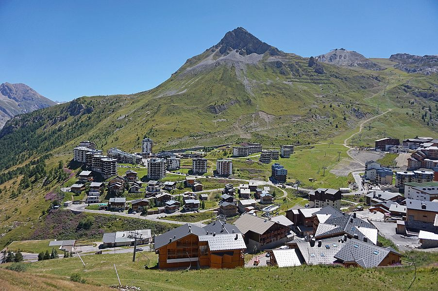 Tignes and a mountain in France.