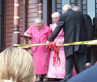 Herman C. Timm House - Ribbon cutting at the rededication