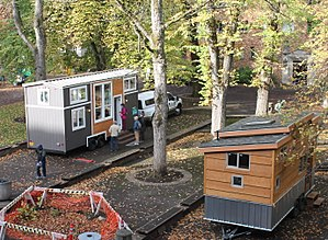 Tiny house movement - Tiny houses on display in Portland, Or