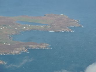 Point, Lewis - Tiumpan Head at the east end of Point and Portvoller from the air