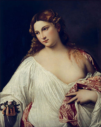 The Original of Laura - Flora, painted 1515 by Titian