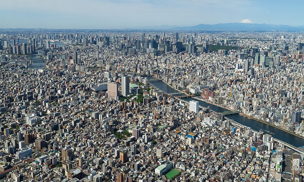 Tokyo from the top of the SkyTree