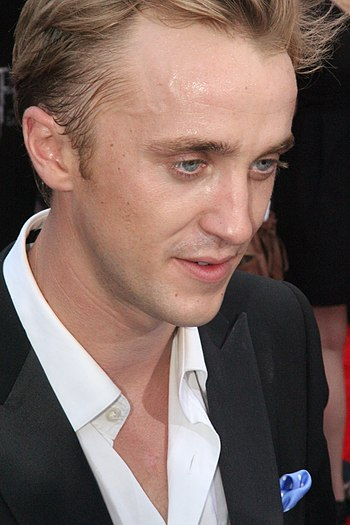 English: Tom Felton at the film premiere of Ha...