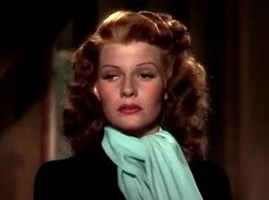 Cropped screenshot of Rita Hayworth from the f...