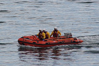 D-788 Leslie & Mary Daws Torbay Lifeboat D-788 on a shout.JPG