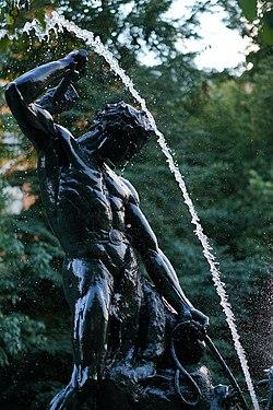 Levande fontan i kungsan