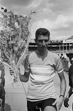 1965 Tour de France - Felice Gimondi, winner of the general classification, pictured after he won the 1964 Tour de l'Avenir – the then semi-professional equivalent of the Tour de France