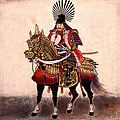 Toyotomi Hideyoshi on his horse.jpg