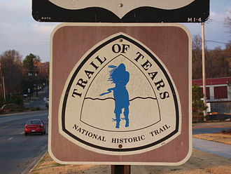 Cherokee removal - Trail of Tears marker, Hwy 71, Fayetteville, Arkansas.