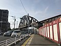 Train on bridge of Kashii Line on Japan National Route 495 2.jpg
